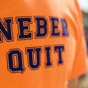neber quit shirt image